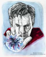 Dr. Strange (Ink) by LiubovKorotkova