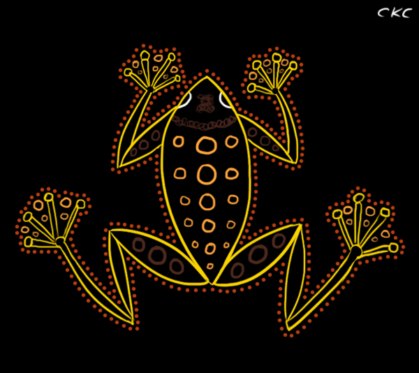 Frog Graphic by Inonibird