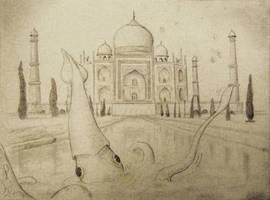 Taj Masquid by Inonibird
