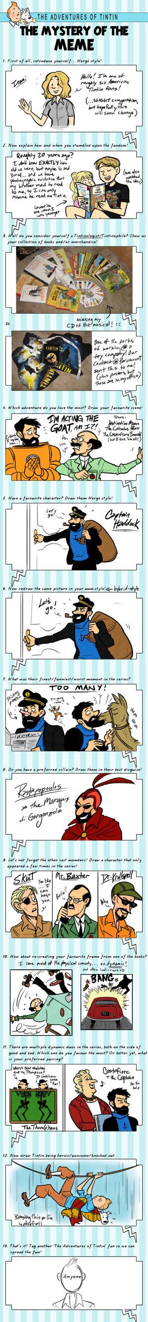 Tintin because TINTIN