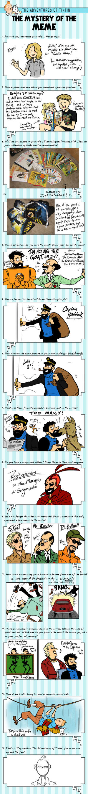 Tintin because TINTIN by Inonibird