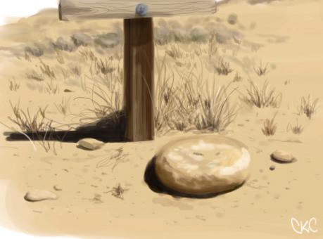 Southwest Desert Paintsketch by Inonibird