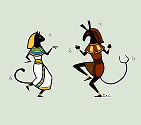 Dancing Stick-gods by Inonibird
