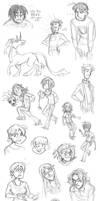 Notebook Sketchdump 2013-2014 by Inonibird