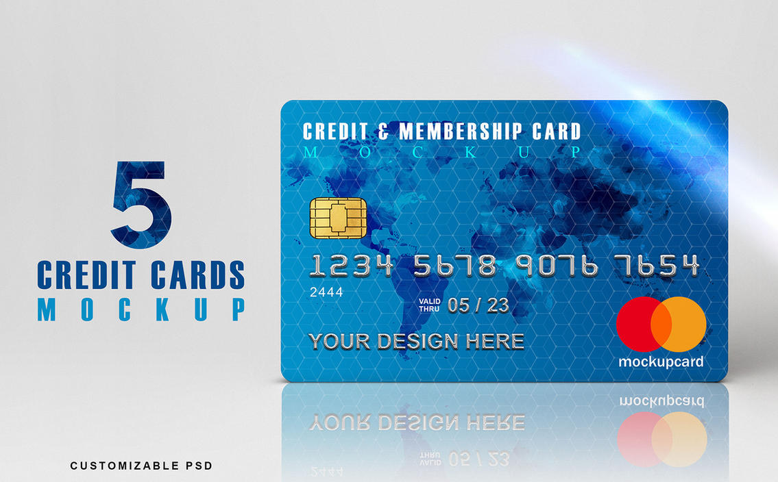 Credit Cards Mockup - Download by honnumgraphicart