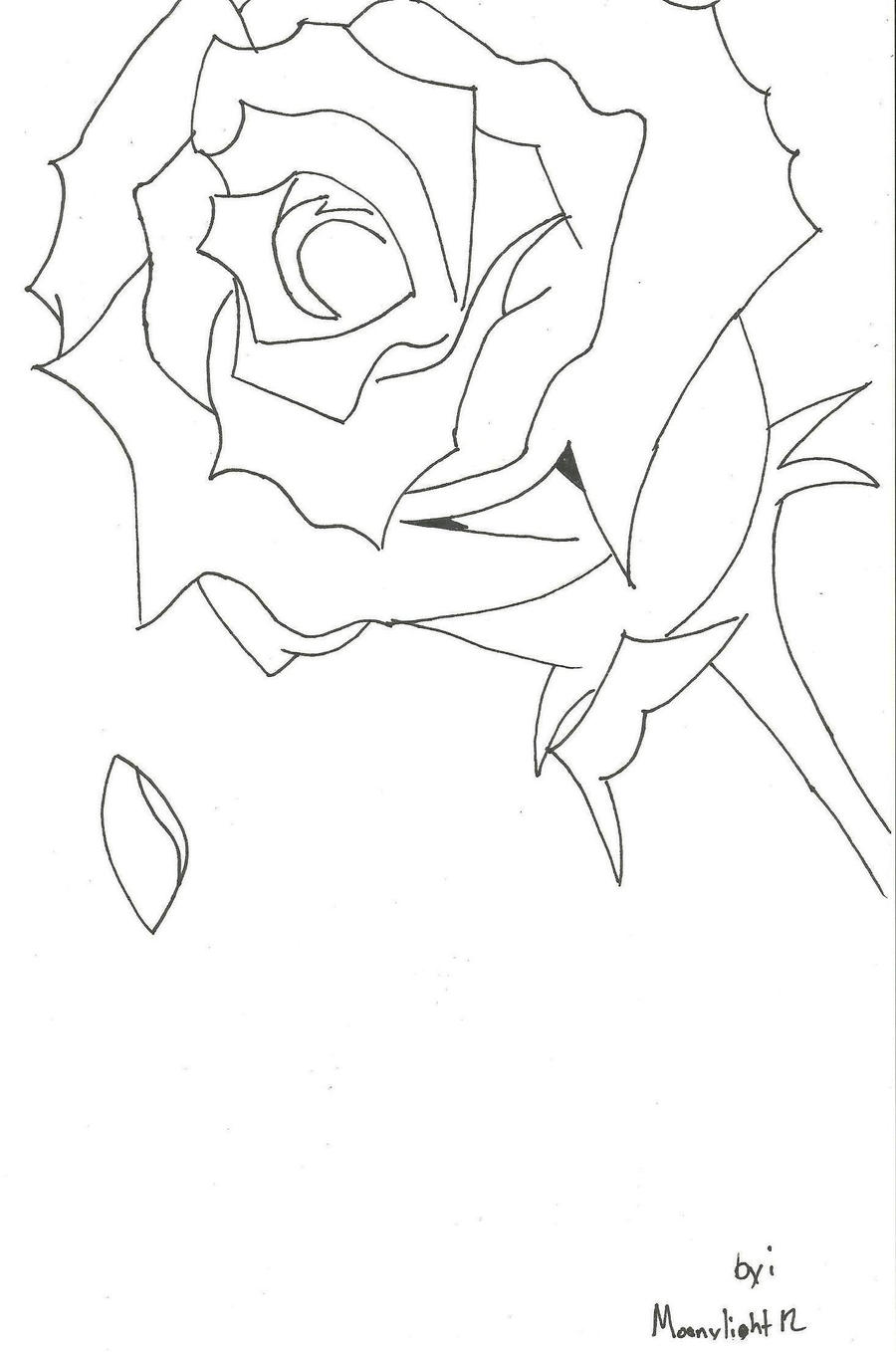 Falling Petal Coloring Pages