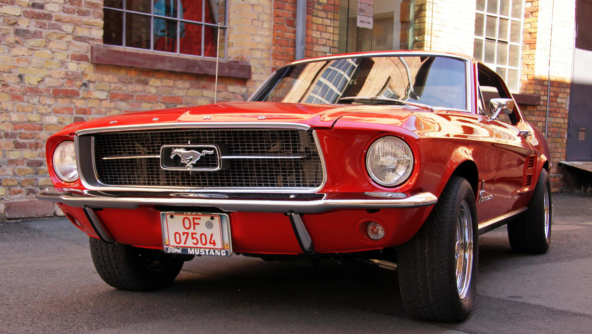 Ford Mustang front view ( new edit ) by UdoChristmann