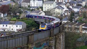 Great Western Train entering the Tamar bridge by UdoChristmann