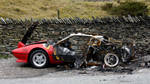 Burned out  Ferrari 1