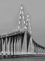 Loire bridge near St. Nazaire by UdoChristmann
