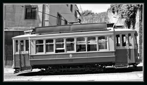 Tram b+w ( new edit ) by UdoChristmann