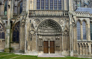 Cathedral of Bayeux - Gate (2) by UdoChristmann