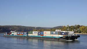 Cargo unit on the rhine by UdoChristmann