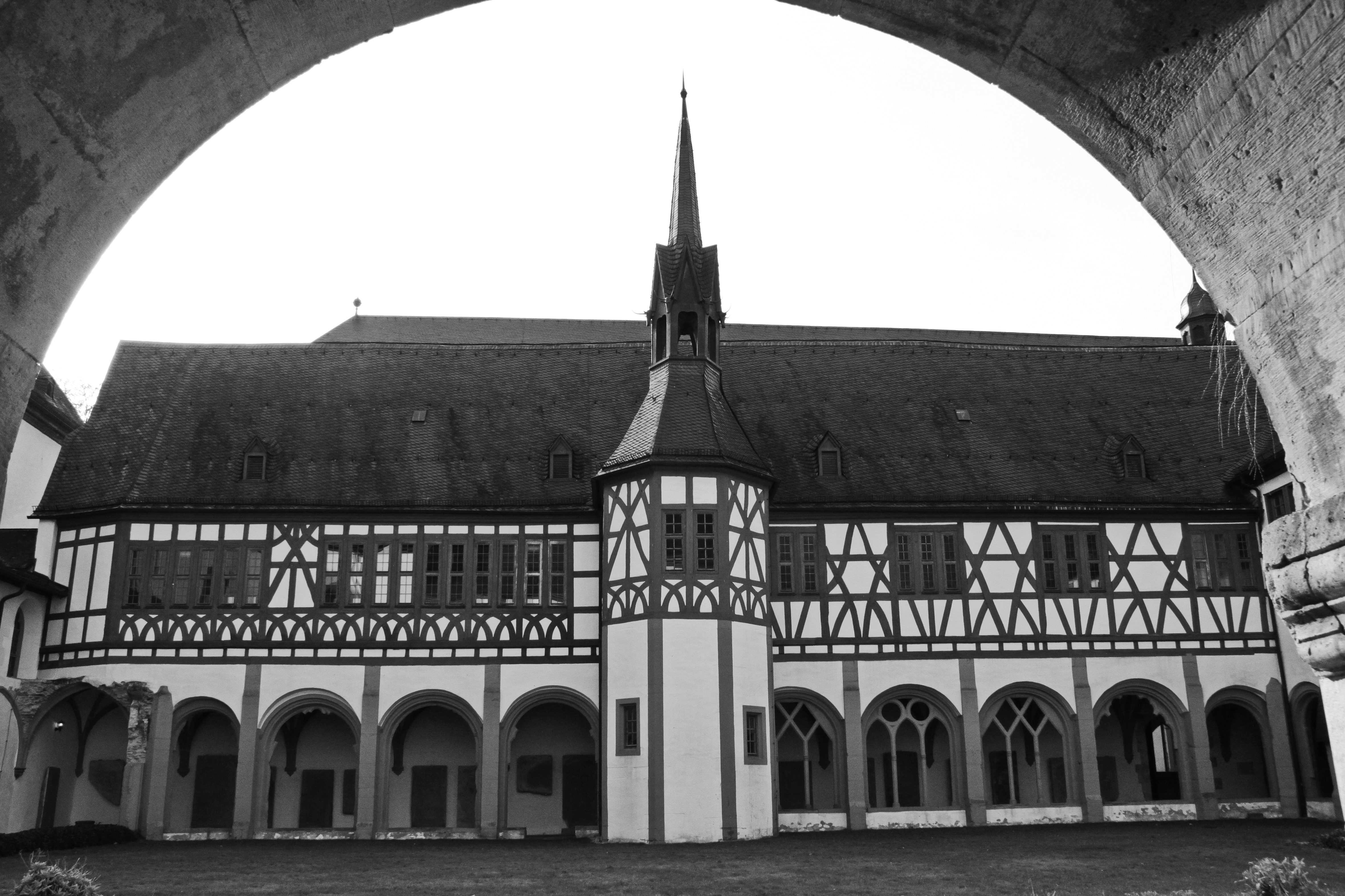 Cloister courtyard by UdoChristmann