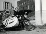 NSU with sidecar - Historic picture