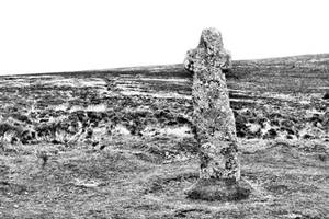 Stone cross - Dartmoor - UK by UdoChristmann