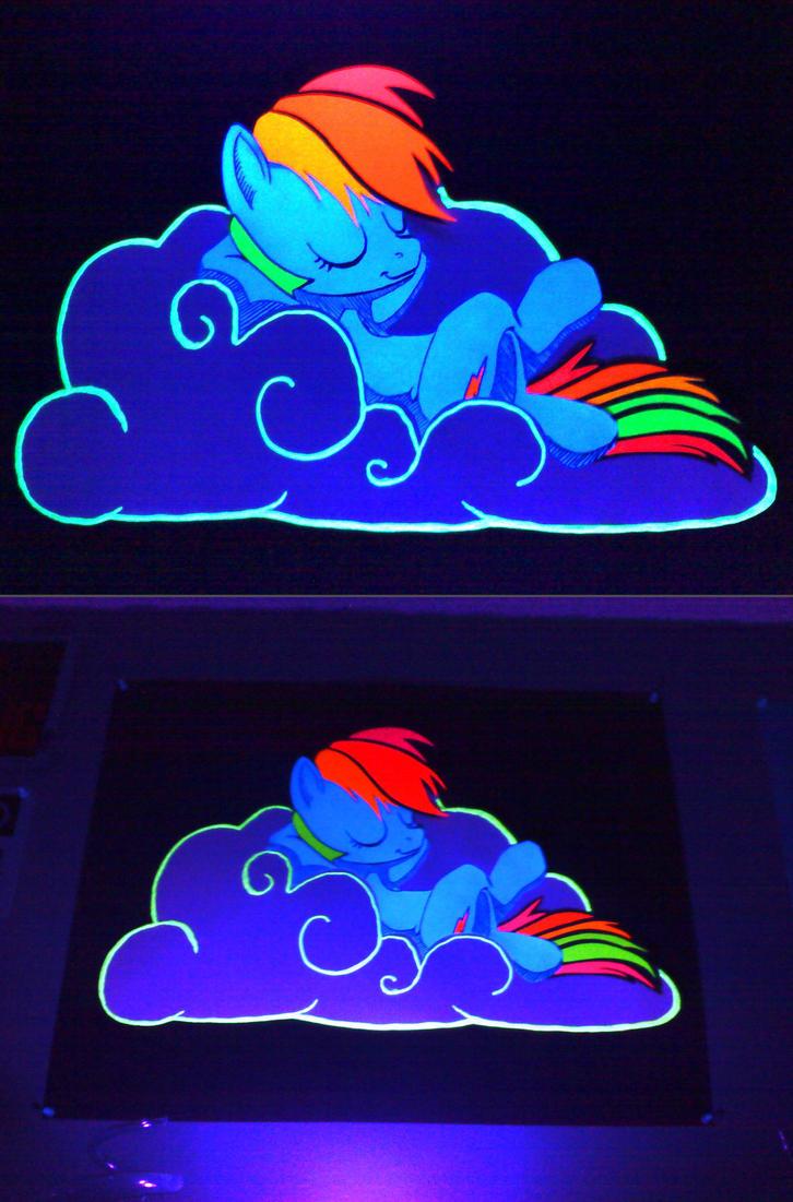 blacklight reactive rainbow dash poster by infinitydash on deviantart