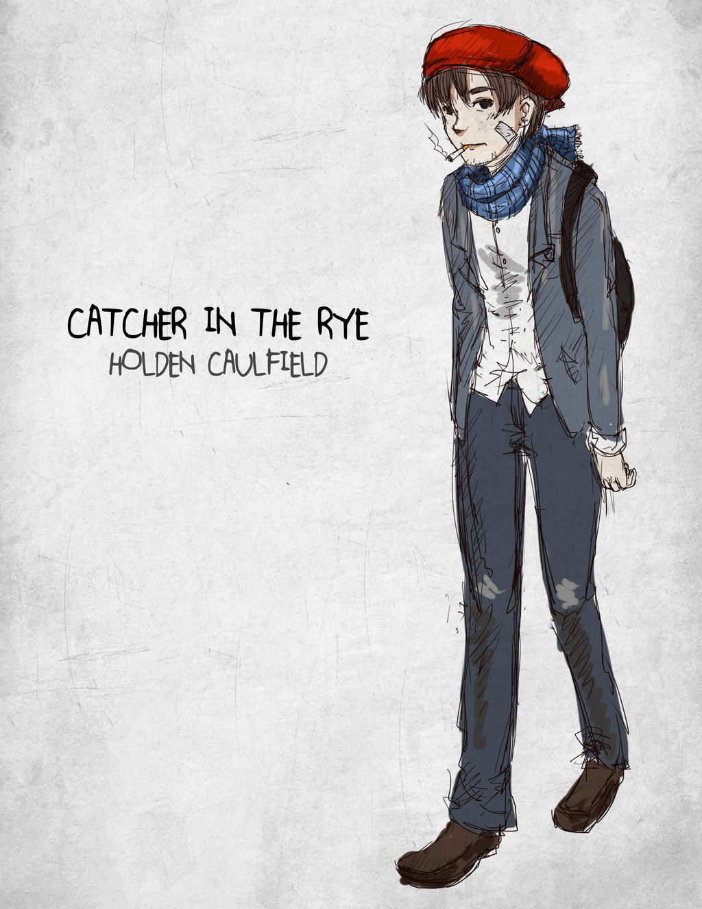 Catcher In The Rye Holden Caulfield By Thelightbulb On