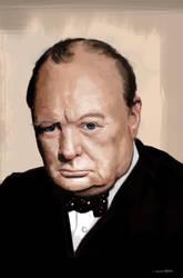 Winston Churchill by EricWeathers