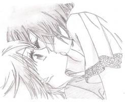 Mari and Akko - First kiss by sakesend