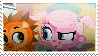 Minka and Russell stamp by Hedgehog-Russell