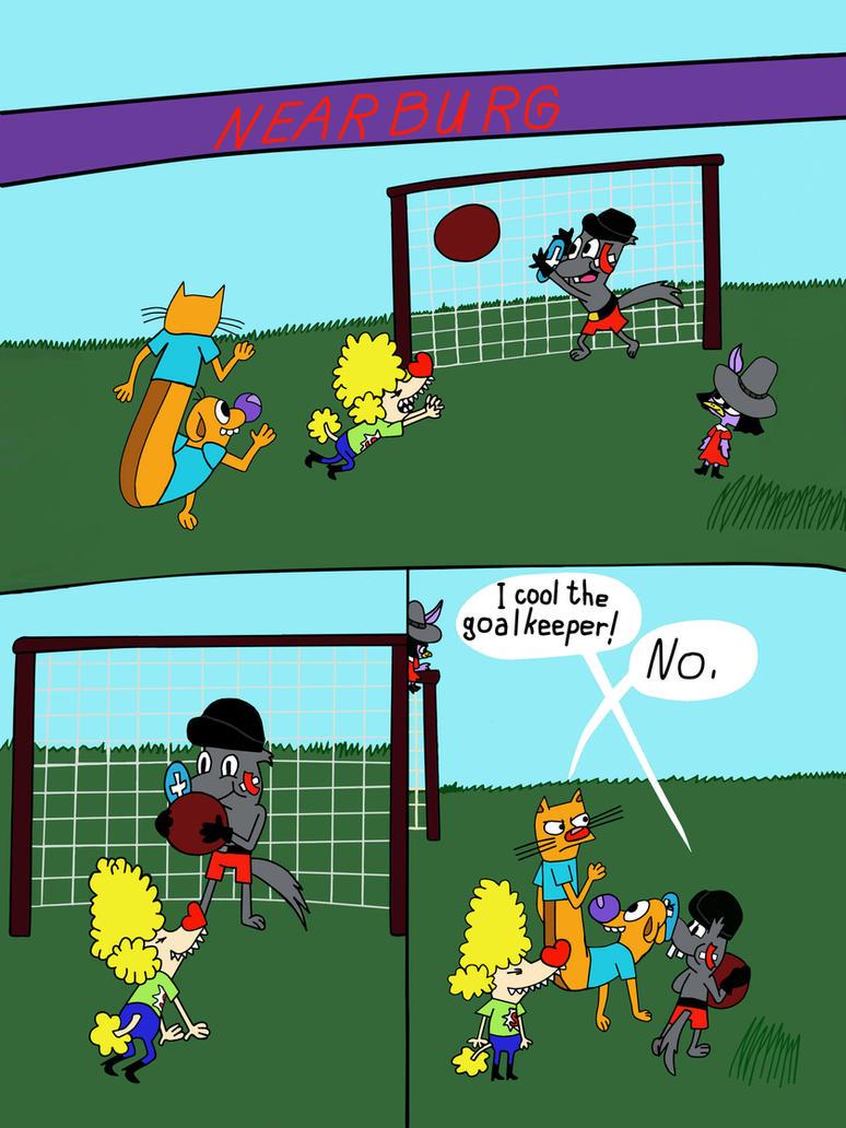 Eddie the Squirrel goalkeeper (comix) by Hedgehog-Russell