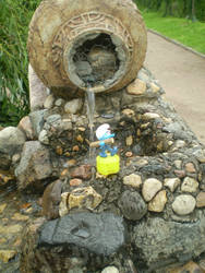 Handy at the well