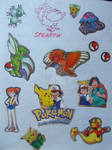 Pokemon (stickers and art) by Hedgehog-Russell