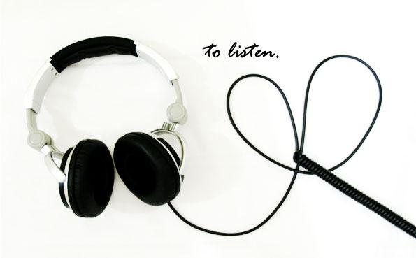 to listen. by beydee