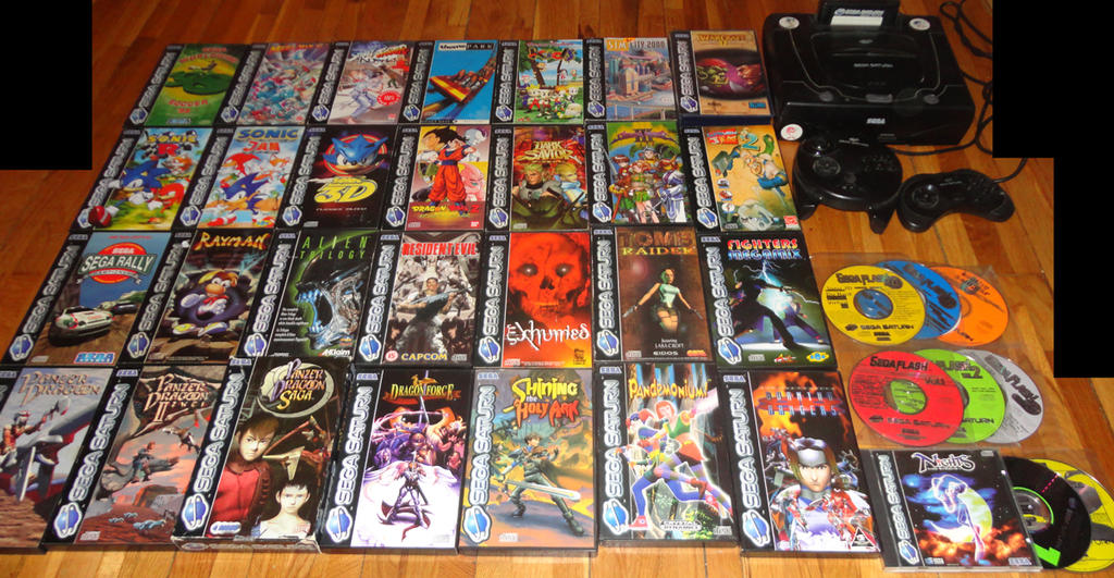 My Sega Saturn Collection (part 1 of 2) by Alex-tout-court on DeviantArt