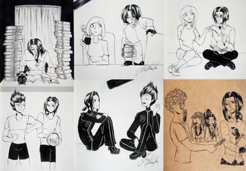 Inktober 3 by Luna-Kaneshiro