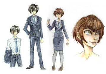 Akane and Ginoza by Luna-Kaneshiro