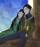 Leah and Loki by anamoar