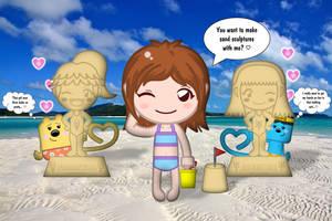 Chika at the Beach