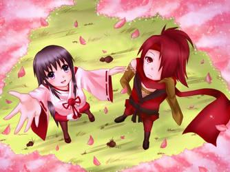 Hotaru and Akashi by Kurumo-sen