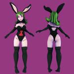 Bunnysuit Pepper by maho-ren