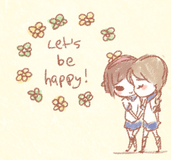 let's be happy (gif) by everyredqueen