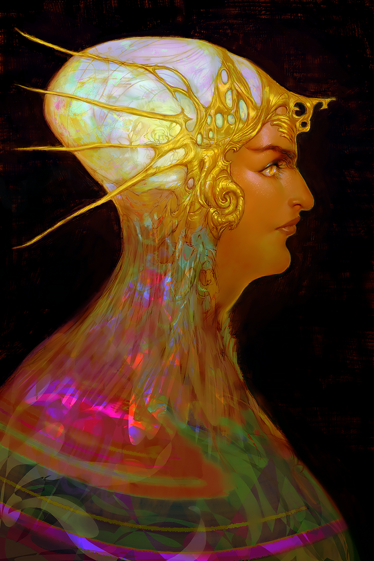 opal + gold by magicelum
