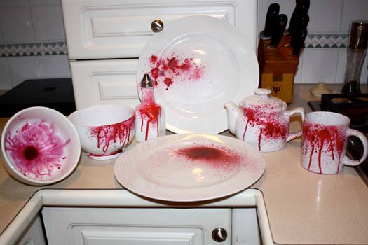 Blood Splatter Dinnerware Set