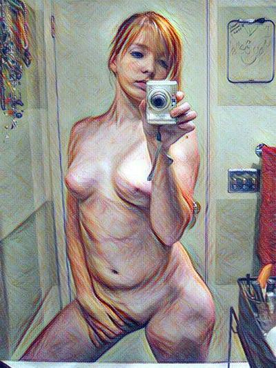 sexy redhead 01 by bartmanplc