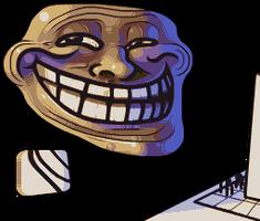 Problem, officer? - Trollface by Badassbill