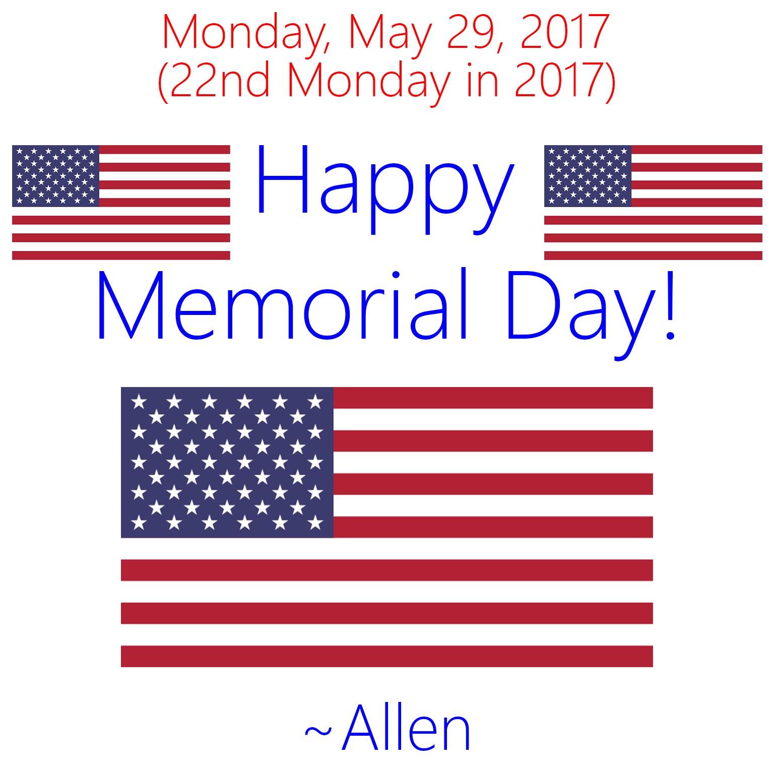 Happy Memorial Day 2017 by AllenAcNguyen on DeviantArt