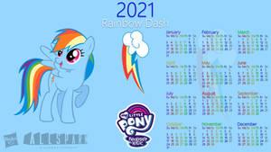 Rainbow Dash 2021 Calendar
