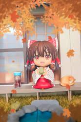 Autumn Tea Time by Bluemeowpanda