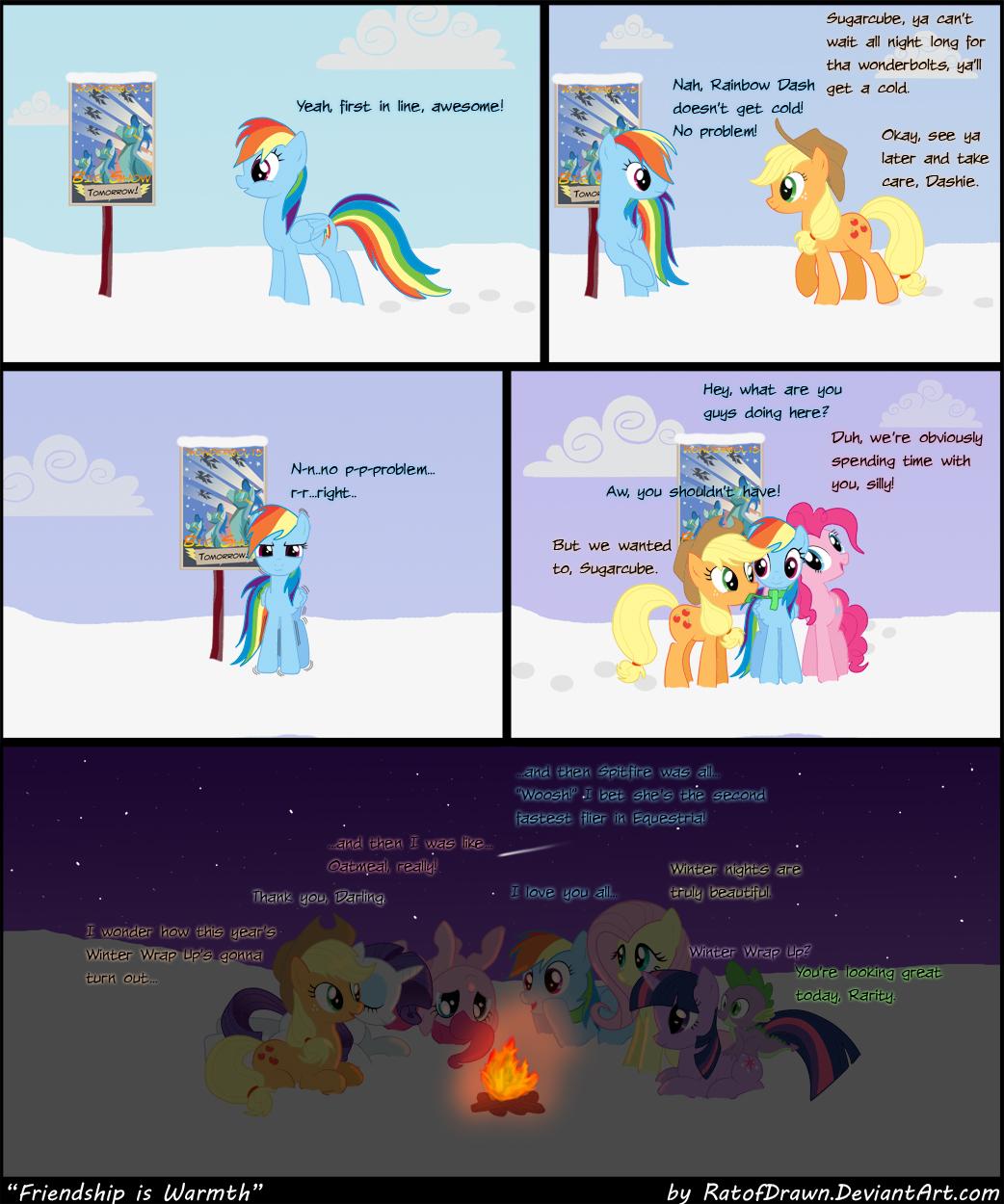 Friendship Is Warmth by RatofDrawn