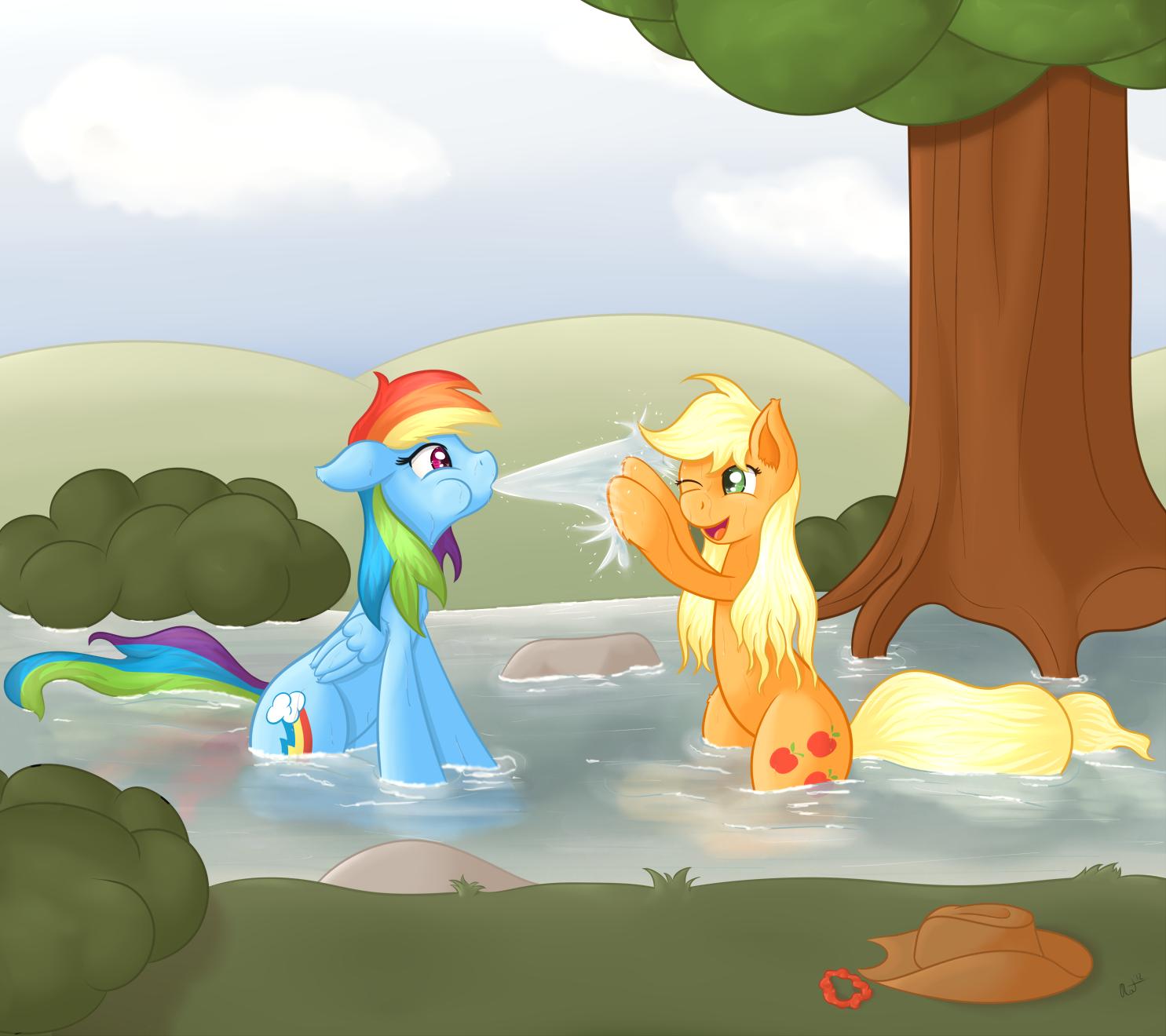 Wet Fun by RatofDrawn