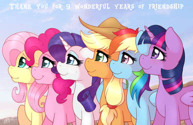Thank You For 9 Wonderful Years Of Friendship by RatofDrawn