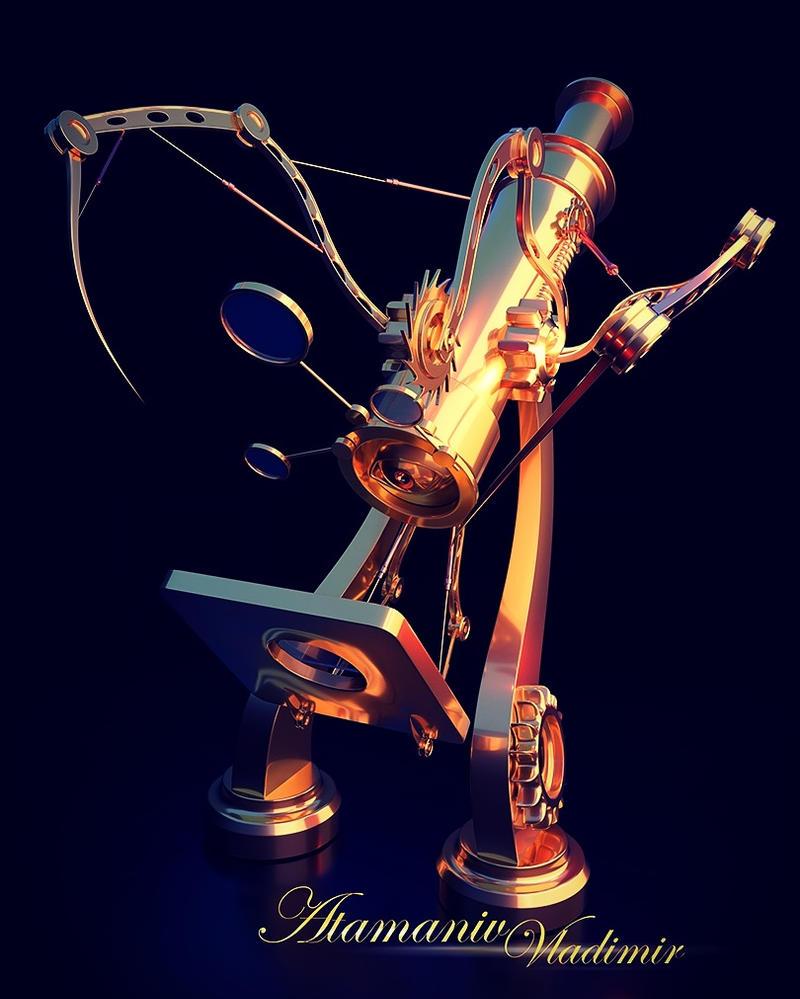Microscope. #NewSteamPunk by Atamaniv