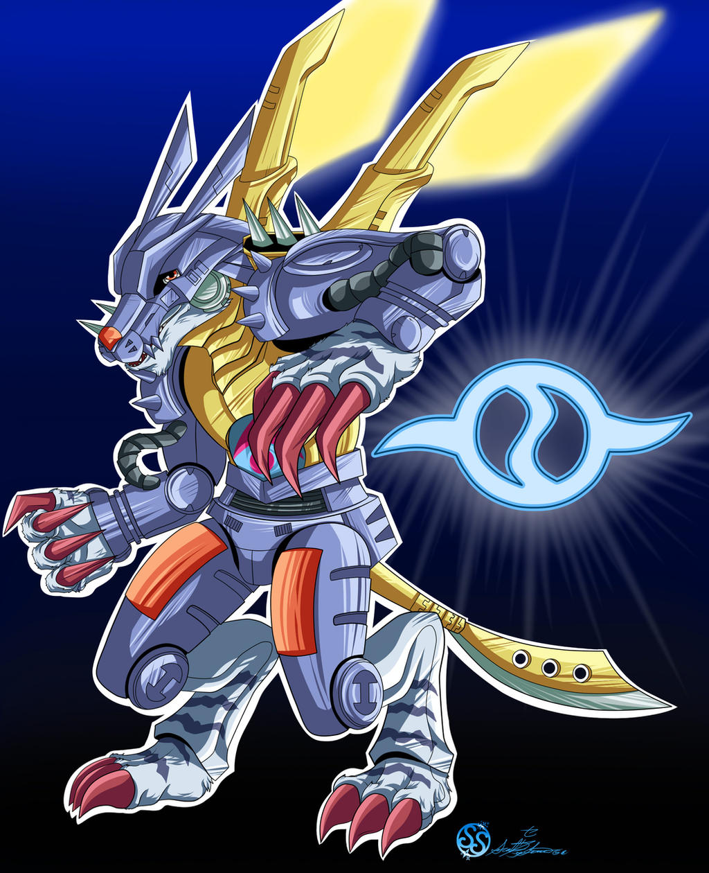 MetalGarurumon Badge by Sarieu on DeviantArt