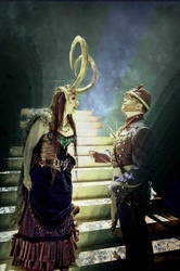 Lady Loki And The Soldier by arcticphoenixstudios